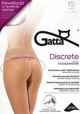 TIGHTS SEAMLESS NO SEAM GATTA DISCRETE 15 DEN INVISIBLE PERFECT FIT MODELING