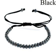 Women Men Handmade Copper Beads Bracelet Braided Wristband Woven Bangles Jewelry
