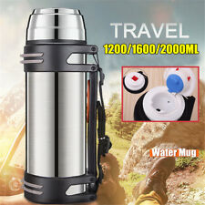 1.2-2L Stainless Steel Insulated Thermos Cup Water Mug Vacuum Flask Drink Bottle