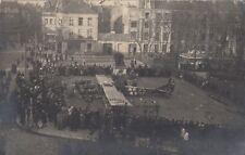 Deutsches Kriegsflugzeug notgelandet in Frankreich Foto-AK 1918 WW I 1808022