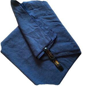 Aquis Adventure Britanne Blue Body Towel Ultra Absorbent Fast Dry Microfiber