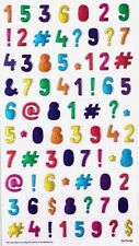 3D Crystal Stickers Bright Numbers Symbols for Scrapbooking sticker Album school