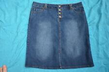 KATIES DENIM Size 16 BUTTON FRONT Denim Skirt NEW RRP$49.95.STRETCH. Mid Denim.