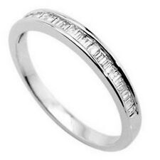 0.25carat Baguette Cut Diamonds Half Eternity Wedding Ring in Platinum