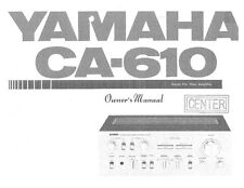 Yamaha CA-610 Amplifier Owners Manual