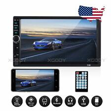 Double DIN  7 in Car Stereo Audio Radio MP5 Player Bluetooth HD Touch Screen USB