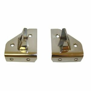 For Jeep Cj Yj 76-95 Windshield Hinge Light Stainless Pair  X 11028.01