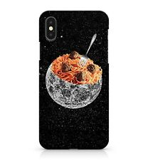 Meatball Noodles White Galactic Moon Nebula Star Cluster Galaxy Phone Case Cover
