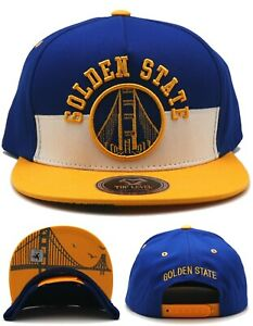 Golden State New Leader Top Level Split Warriors Blue Gold Era Snapback Hat Cap