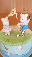 "Enesco ""Hole-Lotta-Fun"" Golfing Mice Music Box"