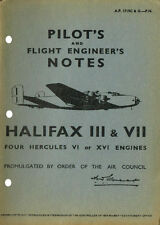 PILOT'S & FLIGHT ENGINEER'S NOTES: HALIFAX/4-ENGINED HEAVY BOMBER (46 Pages)