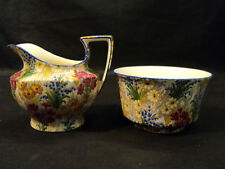 "NICE ROYAL WINTON ""MARQUERITE"" CHINTZ CREAMER & SUGAR"