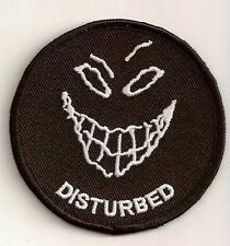 DISTURBED EMBROIDERED IRON ON BIKER PATCH
