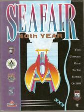 1989 Seafair 40th Year Rainier Cup Hydroplane Race Program
