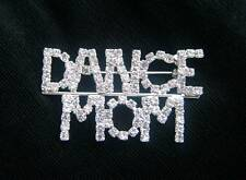 Mother - 2 Inches Dance Mom Clear Rhinestone Pin-Dedicated