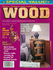 1994 Wood Magazine: Stylish CD/DVD Storage Unit/bird feeder/Country-Style Chair