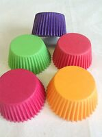 TROPICAL MIX of COLOURS 60 x High Quality paper Muffin / Cup cake Cases