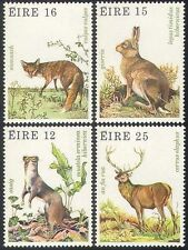 Ireland 1980 Fox/Deer/Hare/Stoat/Animals/Wildlife/Nature/Conservation 4v n41299