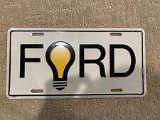 Ford Aluminum Metal License Plate Sign Tag Vintage Rare light Bulb (Better Idea)