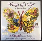 Wings of Color Butterfly Shaped Jigsaw Puzzle 1000pc EcoFriendly Ink by SunsOut