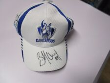 Nth Melbourne - Brent Harvey signed official Kangaroos team sponsor cap