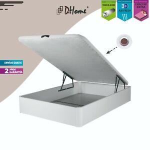 Canape Abatible Tapizado 3D Blanco ESQUINAS 3,5cm  29cm cap. canapé madera