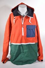 2015 MENS THIRTYTWO MEYERS PULLOVER JACKET $150 XL tangerine colorblock USED