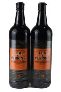 Lea & Perrins Worcestershire Sauce 2 x 568ml NEW WITH FREE DELIVERY