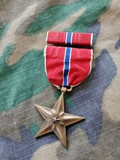 Wwii Us Army Navy Marine Corps Bronze Star Medal Ribbon Pin Set