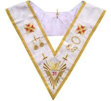 Sautoir maçonnique moiré – REAA – 31ème degré – Grande Gloire + épées + EJ – Bro