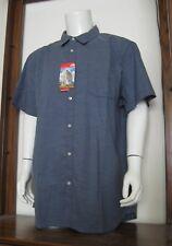 XXL Men The North Face On Sight Short Sleeve Button Shirt Shady Blue Stripe NWT