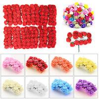 144x mini-mousse Roses Fleurs Artificielles Mariage Bouquet Mariée Décor PB