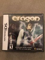 Eragon (Nintendo DS, 2006) GAME COMPLETE W/ CASE & MANUAL TESTED WORKS