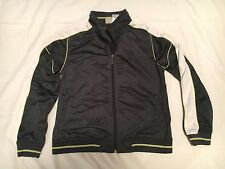 Athletic Works Jacket Juniors 12 14 Zip Up Gray White Lime Green Womens M L
