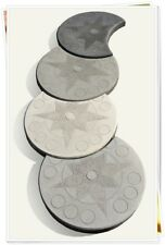 Eine Schalungsform Giessform Beton & Gips Gehwegplatte Windrose 50 cm Mond