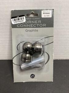"""Cambria® Classic Corner Connector in Graphite 5/8"""""""