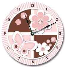 Wall clock PETALS Nursery Art Baby Toddler Girl Custom Room Decor_FT