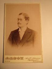 Leipzig - Annaberg Erzgebirge 1900 - Adt. Böhme als Mann Zwicker Portrait / CDV