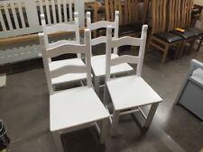 X1 BRETON PAINTED CHAIR SOLID SEAT F&B ALL WHITE CHOICE OF COLOURS AVAILABLE
