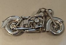1 Of 5 In The World - Silver Harley Shovelhead  Motorcycle Biker Belt Buckle