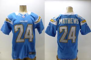 New Nike Field NFL #24 Ryan Matthews San Diego Chargers Football Jersey mens 40