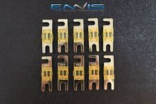 (10) 60 AMP MINI ANL FUSES GOLD PLATED INLINE AFC AFS BLADE AUTO HOLDER MANL60
