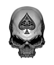 Ace of Spades Skull Decal - Death Card Sticker Decals