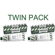 Twin Pack - Proraso Eucalyptus and Menthol Shaving Cream 150ml Green Tube 150ml