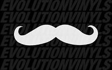 "Mustache sticker decal 8"" long! JDM illest funny racing dope shocker"