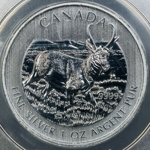 2013 CANADA WILDLIFE-ANTELOPE S$5 ANACS MS70 ANACS CERTIFIED HIGH GRADE UNC BU