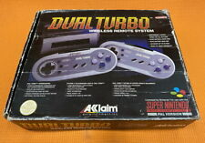 Super NINTENDO / SNES Dual Turbo Wireless Controllers w/ BOX / AKKLAIM