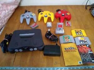Nintendo 64 N64 Works Tested Authentic Console Bundle W/ 3 Controllers ,Games +