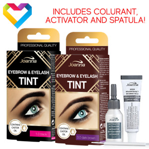 Joanna Henna Tint Colour Cream  Eyebrows Eyelashes Black Brown Eyebrow Eyelash