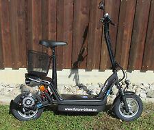 Elektroroller Oliver500 schwarz 36V 500W Motor LED 20 Kmh Vmax bis 30 Km Reichw.